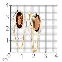 Cercei din aur MAGIC STONES art 02-2-748-0400-041 2